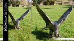 Sculpture animalière aigle finition bronze antique (gauche)
