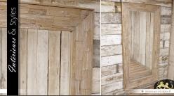 Grand miroir en bois de style rustique 183 cm