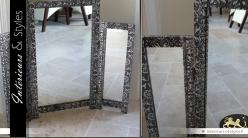 Miroir oriental de table triptyque pour coiffeuse style marocain