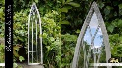 Miroir fenêtre gothique en arche style rétro 100 cm
