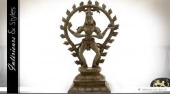 Statuette Shiva en bronze vieilli (34 cm)