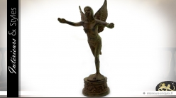 Statuette en fonte allégorie femme ailée (30 cm)