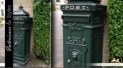 Boîte aux lettres londonienne verte en aluminium