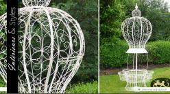 Jardinière géante ornementale en forme de montgolfière blanche 250 cm