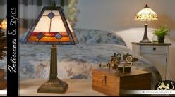 Grande lampe Tiffany : Langoureux vertiges