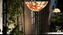 Grand lampadaire Tiffany : Ensoleille toi 198 cm