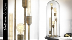 Lampe cloche verre cocktail Edison 5 types d'ampoules vintages 76 cm