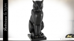 Statuette de chat stylisé en bronze style Egypte antique 46 cm