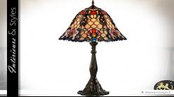 Lampe  de salon de style Tiffany : Amyrtée 61 cm (Ø 44,5 cm)