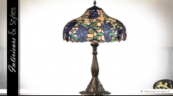 Lampe Tiffany de salon : Graines de raisin 59,5 cm