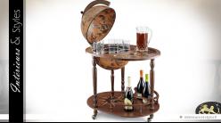 Table console bar avec mappemonde antique du XVIe siècle 92,5 cm