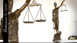 Sculpture en bronze Thémis déesse de la Justice 99 cm