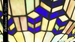 Grand lampadaire Tiffany L'écho du fleuve 185 cm