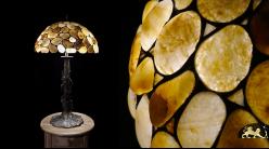 Lampe de salon en galets naturels, modèle Riviera 68cm (Ø40cm)