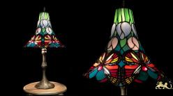 Lampe de salon de style Tiffany, modèle Capucine 63cm (Ø33cm)