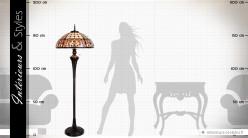 Lampadaire de style Tiffany Montparnasse Ø 57 cm 166 cm