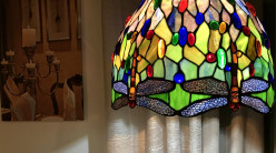 Grande suspension Tiffany : Envolée de lumière - Ø49cm