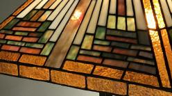 Lampe de salon Tiffany : Réflexion hivernale - Ø43cm