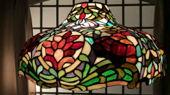 Grande suspension de prestige Tiffany : Fleurs du Paradis - Ø50cm