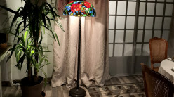 Lampadaire de prestige Tiffany : Jardin d'Eden - 160cm / Ø51cm