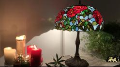 Grande lampe de salon Tiffany : Roseraie de Lyon - Ø51cm
