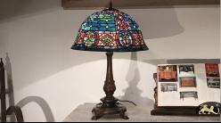 Lampe de prestige Tiffany : Tripot clandestin - Ø46cm