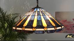 Grande suspension Tiffany : Croisée des mers - Ø50cm