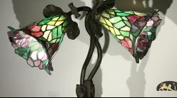 Grande et charmante lampe Tiffany : Souvenir amoureux - 75cm