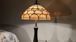 Lampe de chevet Tiffany : Clémentine confite - Ø30cm