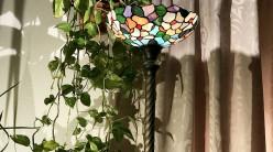 Grand lampadaire Tiffany : Balcons du lac - 182cm / Ø35cm