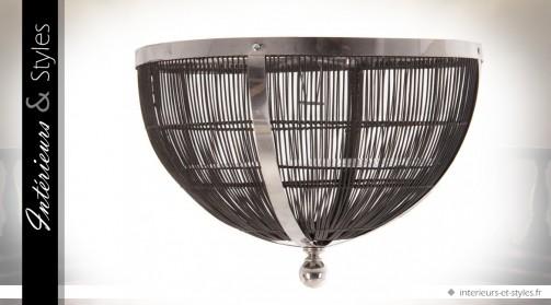 Plafonnier semi-sphérique design en métal Ø 60 cm